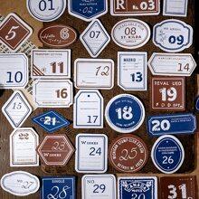 40 Stuecke Aufkleber mit Nummer Muster