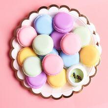 1 Stueck Zufaellige Farbe Macaron formige Aufbewahrungsbox fuer Juwelen