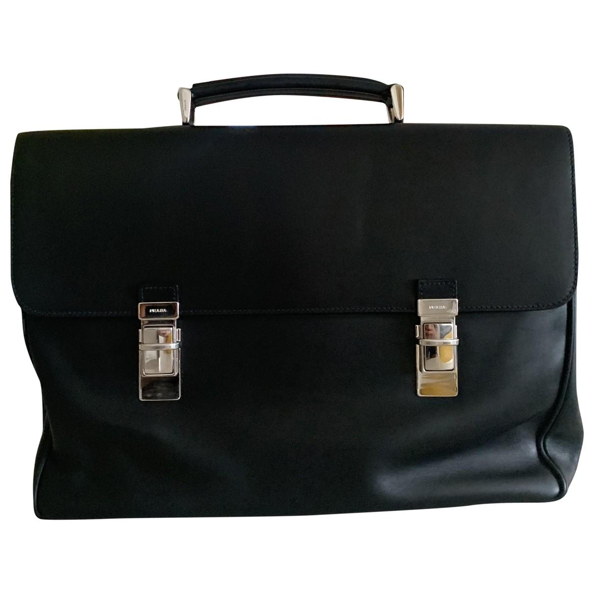 Prada \N Black Leather bag for Men \N