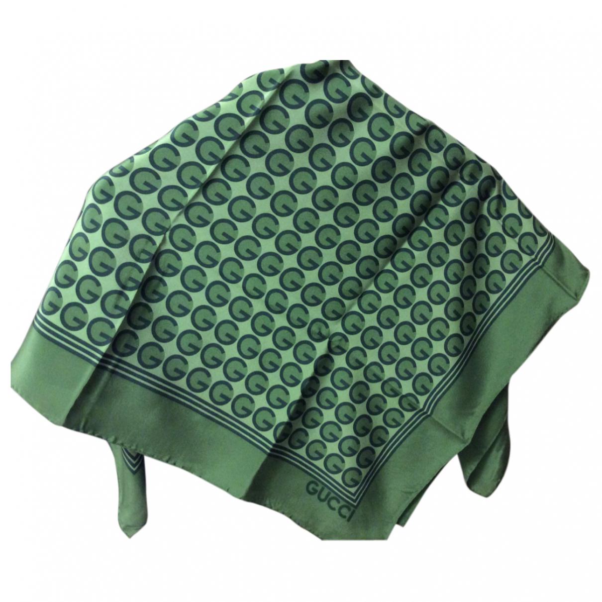 Gucci - Foulard   pour femme en soie - vert