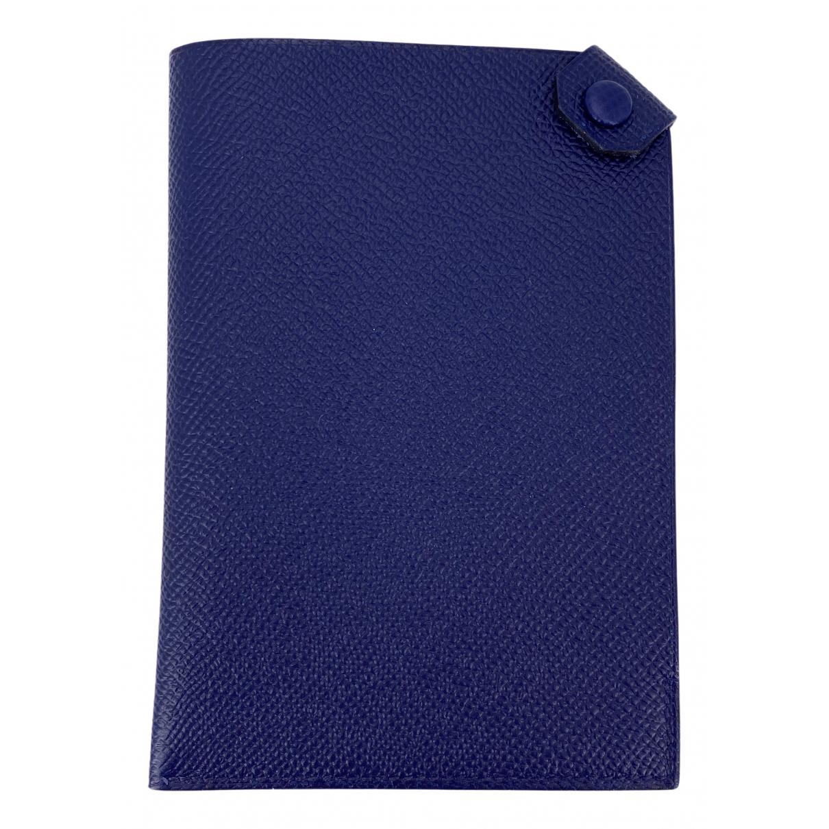 Hermes - Objets & Deco   pour lifestyle en cuir - bleu