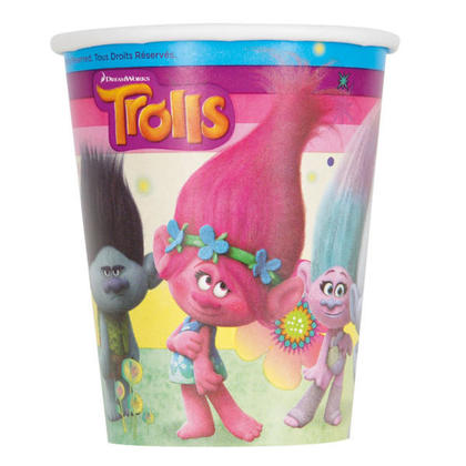 Trolls 8 9 oz. Cups Pour la fête d'anniversaire