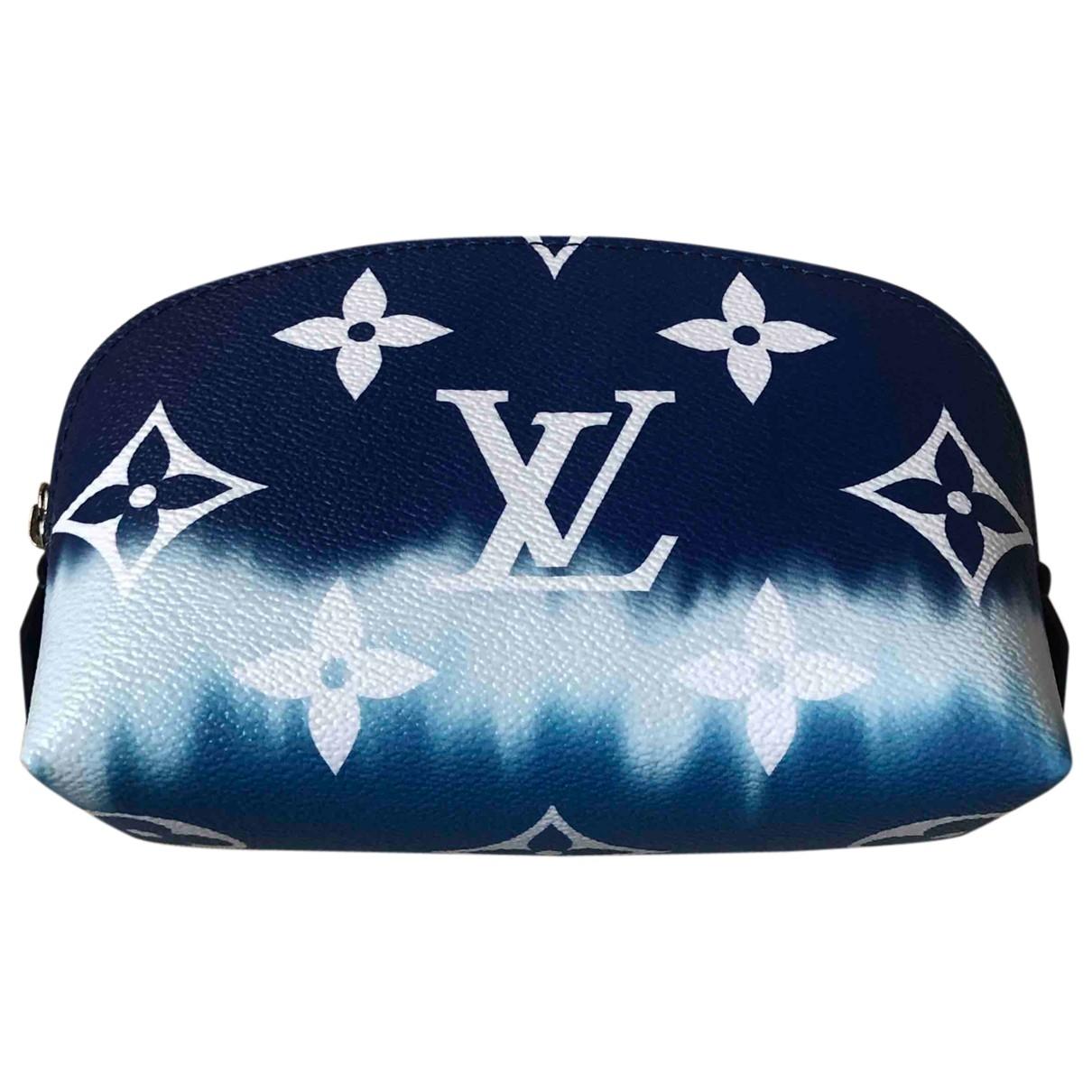 Louis Vuitton - Sac de voyage   pour femme en toile - bleu
