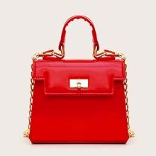 Mini Twist Lock Satchel Bag