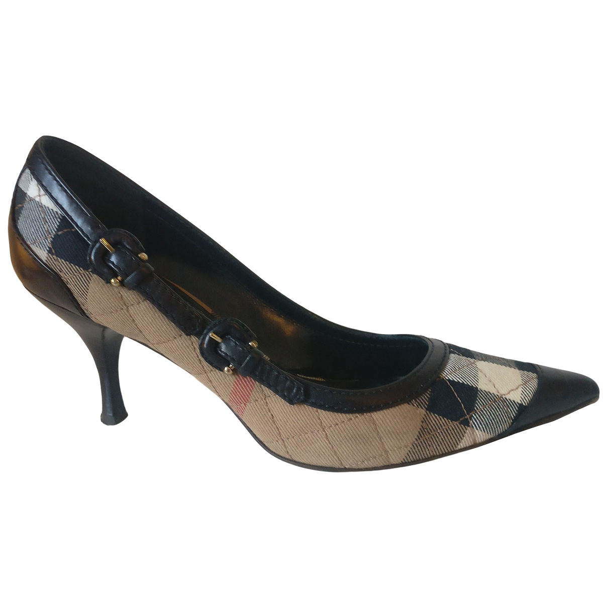 Burberry \N Black Cloth Heels for Women 37.5 EU