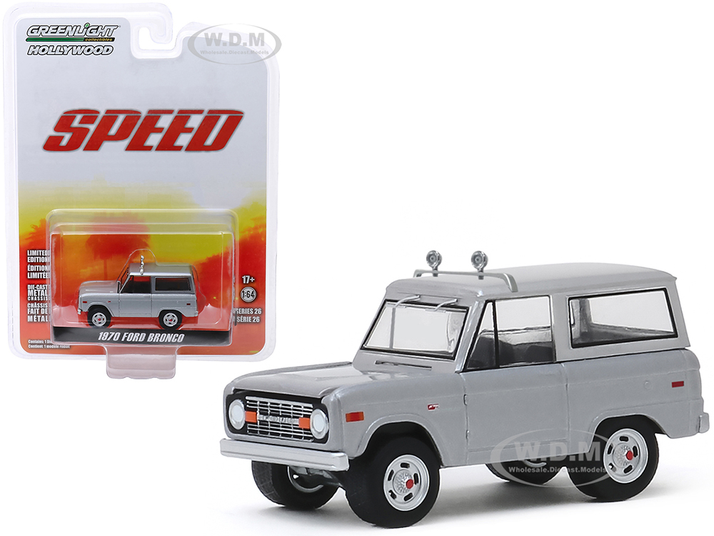 1970 Ford Bronco Gray (Jack Travens) Speed (1994) Movie Hollywood Series Release 26 1/64 Diecast Model Car by Greenlight