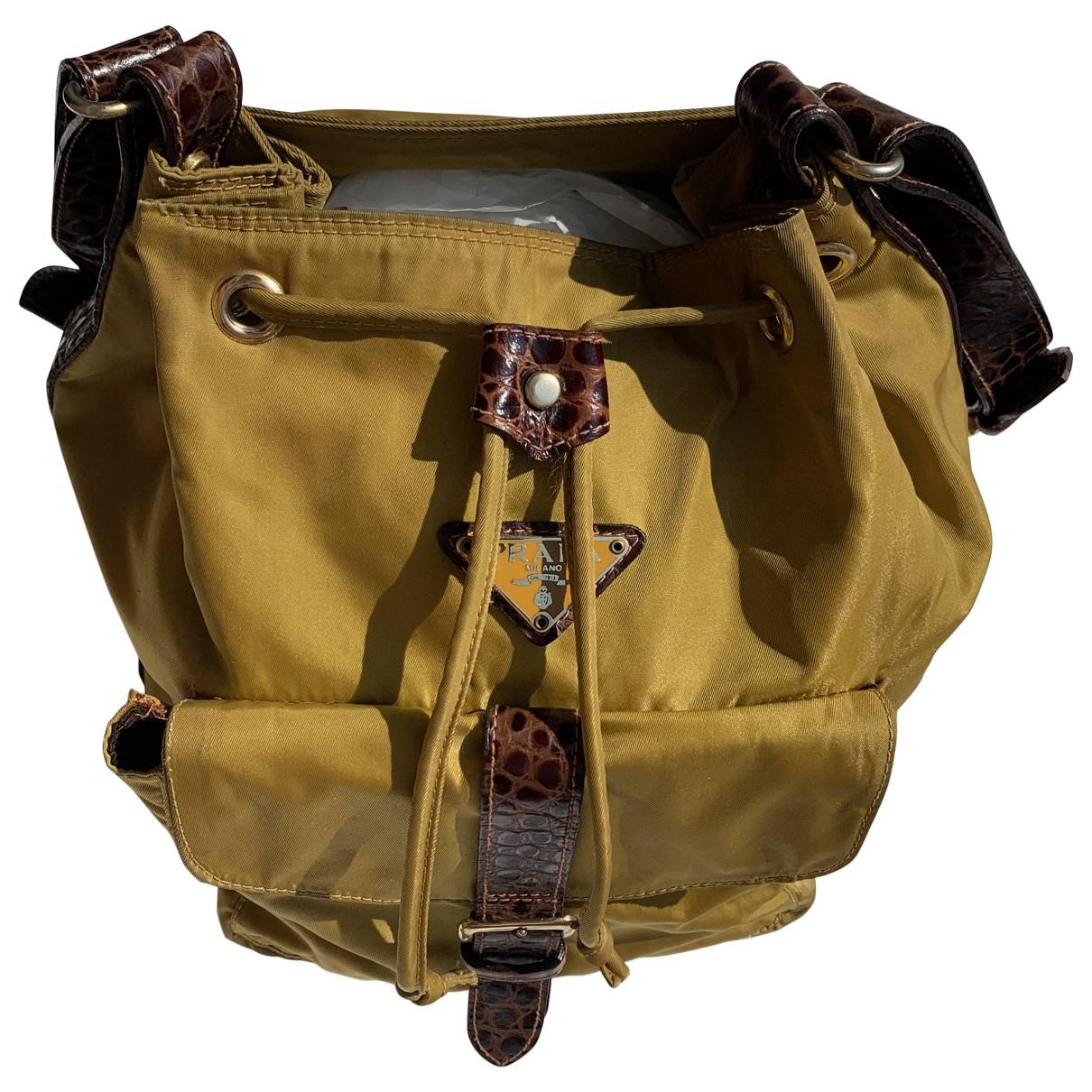 Prada \N Yellow Cloth backpack for Women \N