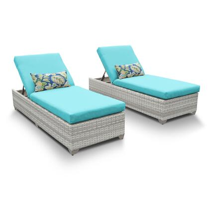 FAIRMONT-2x-ARUBA Fairmont Chaise Set of 2 Outdoor Wicker Patio Furniture with 2 Covers: Beige and