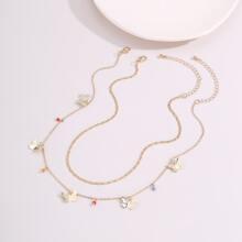 2pcs Butterfly Charm Necklace
