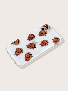 Halloween Pumpkin Pattern Clear iPhone Case