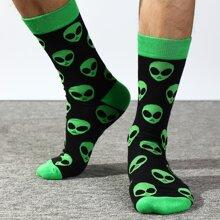 Men Alien Pattern Socks