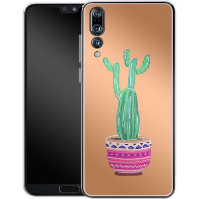 Huawei P20 Pro Silikon Handyhuelle - Cacti Love von Mukta Lata Barua