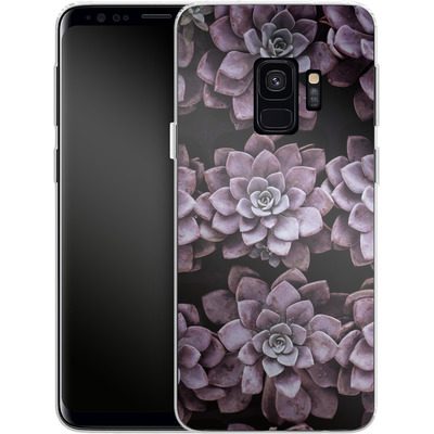 Samsung Galaxy S9 Silikon Handyhuelle - Purple Succulents von caseable Designs