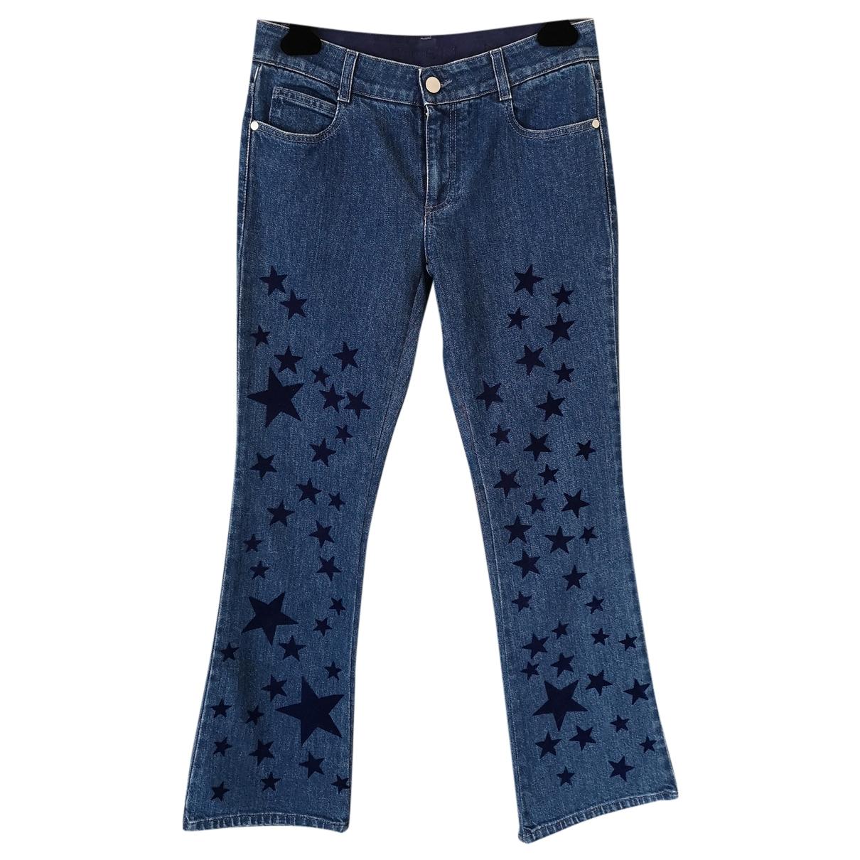 Stella Mccartney \N Blue Cotton - elasthane Jeans for Women 26 US