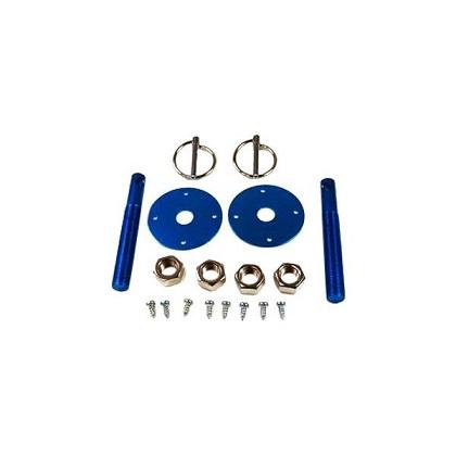 Racing Power Company R4048 Aluminum Hood Pin Kit - Blue