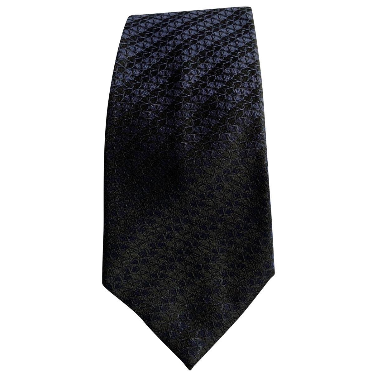 Valentino Garavani \N Black Silk Ties for Men \N