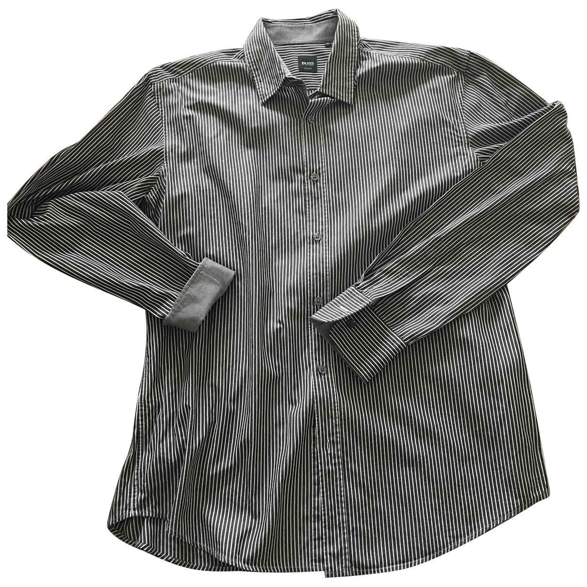 Boss \N Grey Cotton Shirts for Men XL International