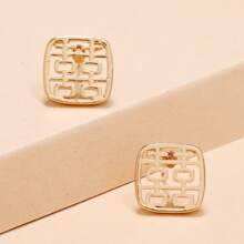 Chinese Character Stud Earrings