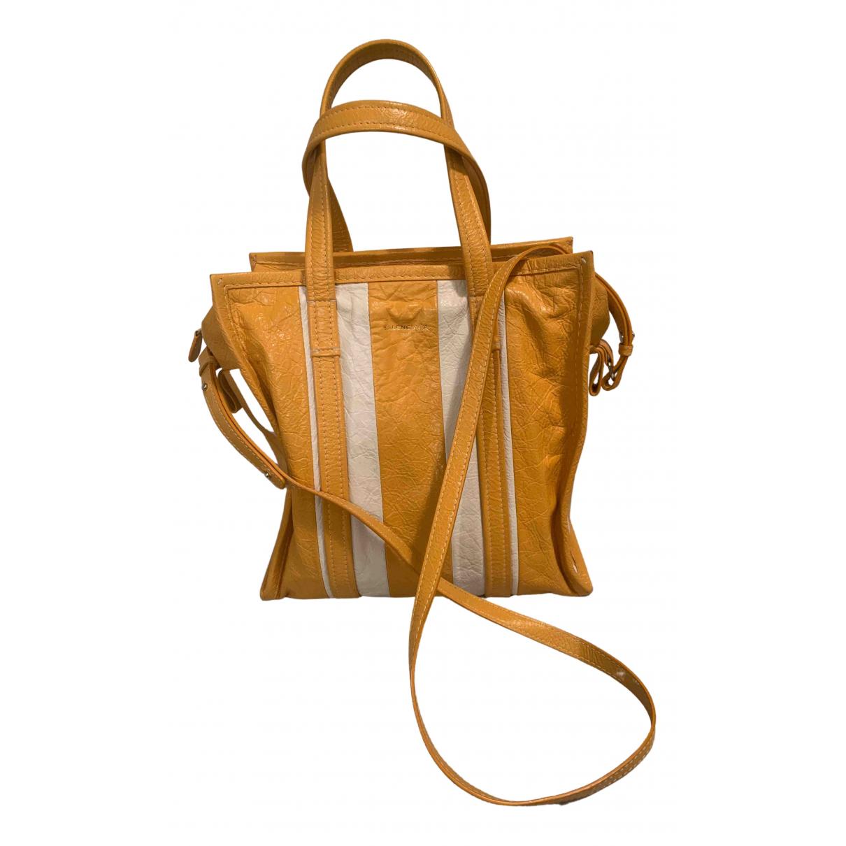 Balenciaga Bazar Bag Yellow Leather handbag for Women N