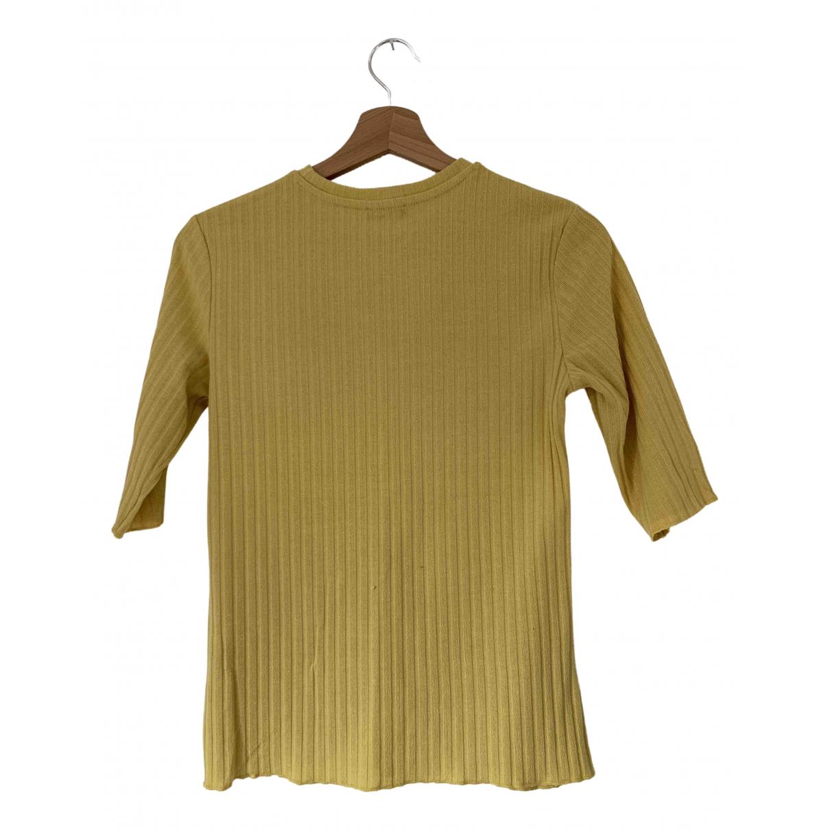 Zara - Top   pour femme - jaune