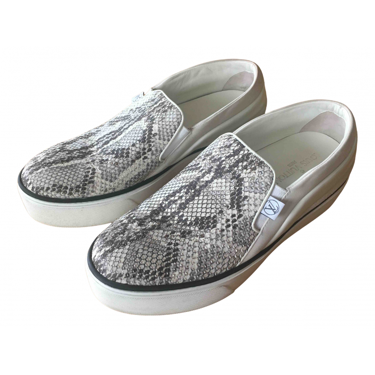 Louis Vuitton - Baskets   pour femme en python - gris