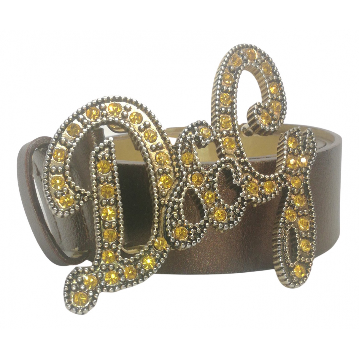 D&g \N Metallic Leather belt for Women 90 cm