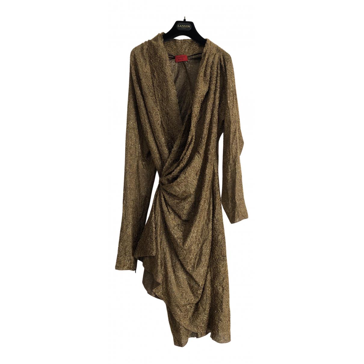 Lanvin \N Kleid in  Gold Viskose