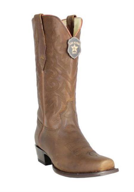 Men's 7 Toe Honey Los Altos Premium Leather Lining Cowboy Boots