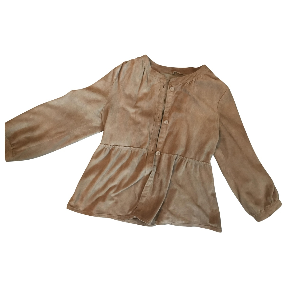 Banana Republic \N Brown Leather jacket for Women M International