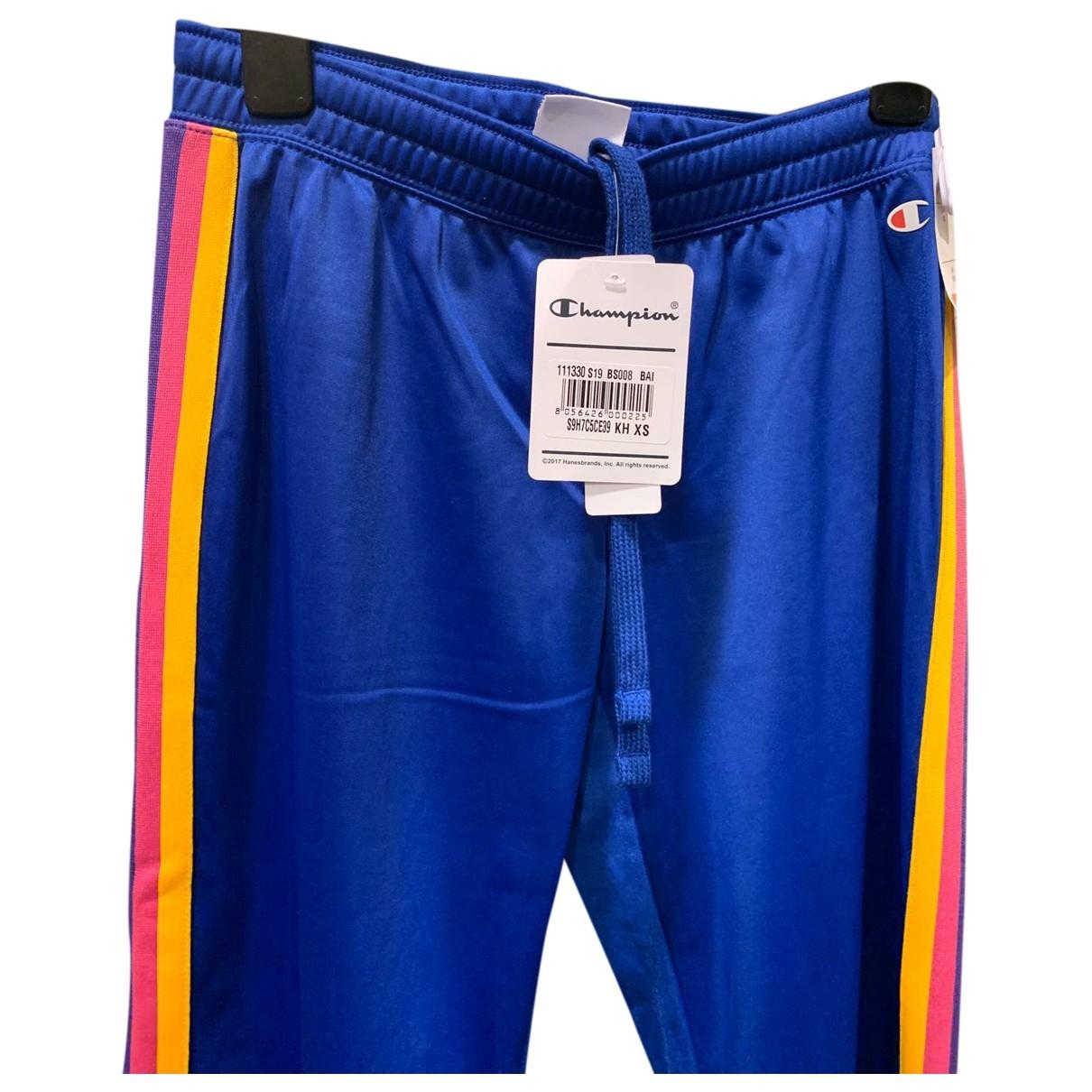 Champion \N Blue Trousers for Women XS International