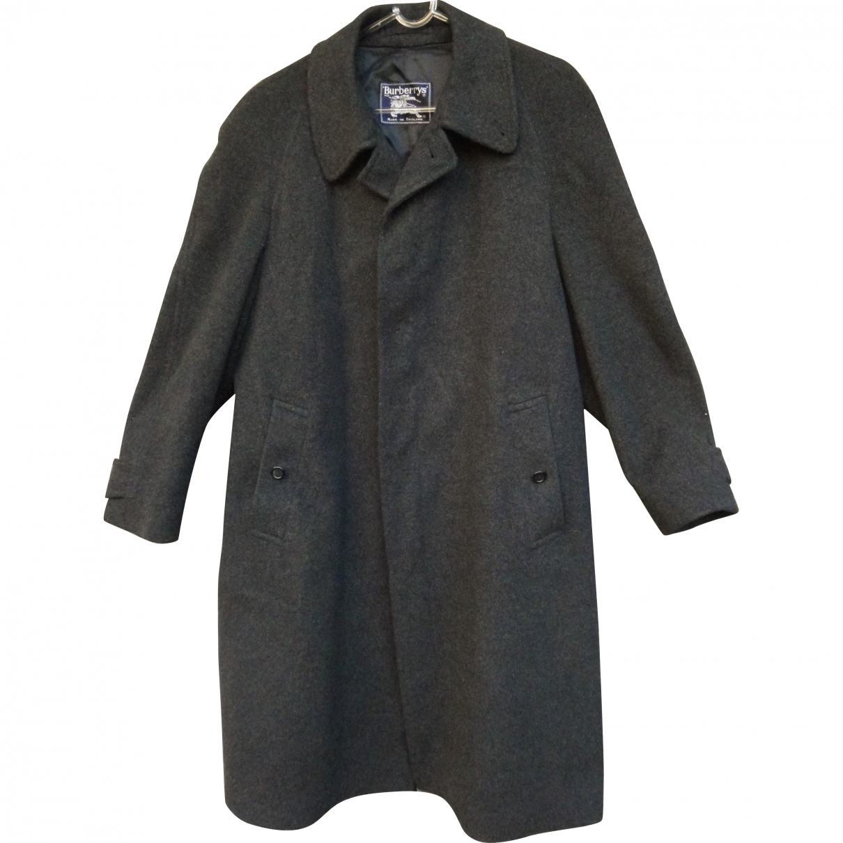 Burberry \N Maentel in  Grau Wolle