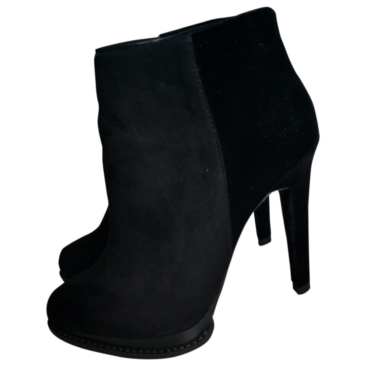 Zara - Boots   pour femme en toile - noir