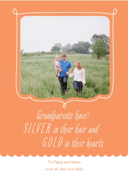 Grandparent's Day 5x7 Cards, Premium Cardstock 120lb, Card & Stationery -Silver and Gold