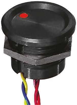 APEM Illuminated Wire Lead Piezo Switch, , IP68, 200 mA @ 24 V dc, Single Pole Single Throw (SPST), -40 → +75°C