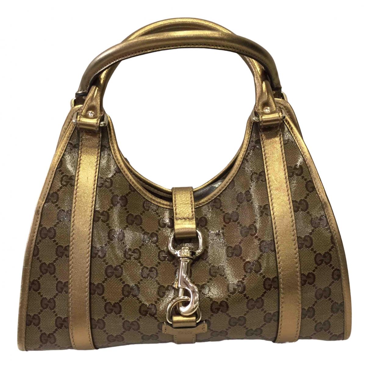 Gucci Jackie Vintage  Handtasche in  Braun Lackleder