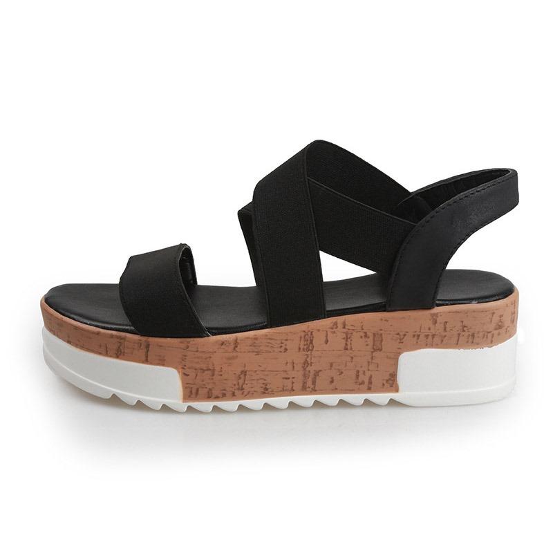 Ericdress Platform Open Toe Slip-On Casual Sandals