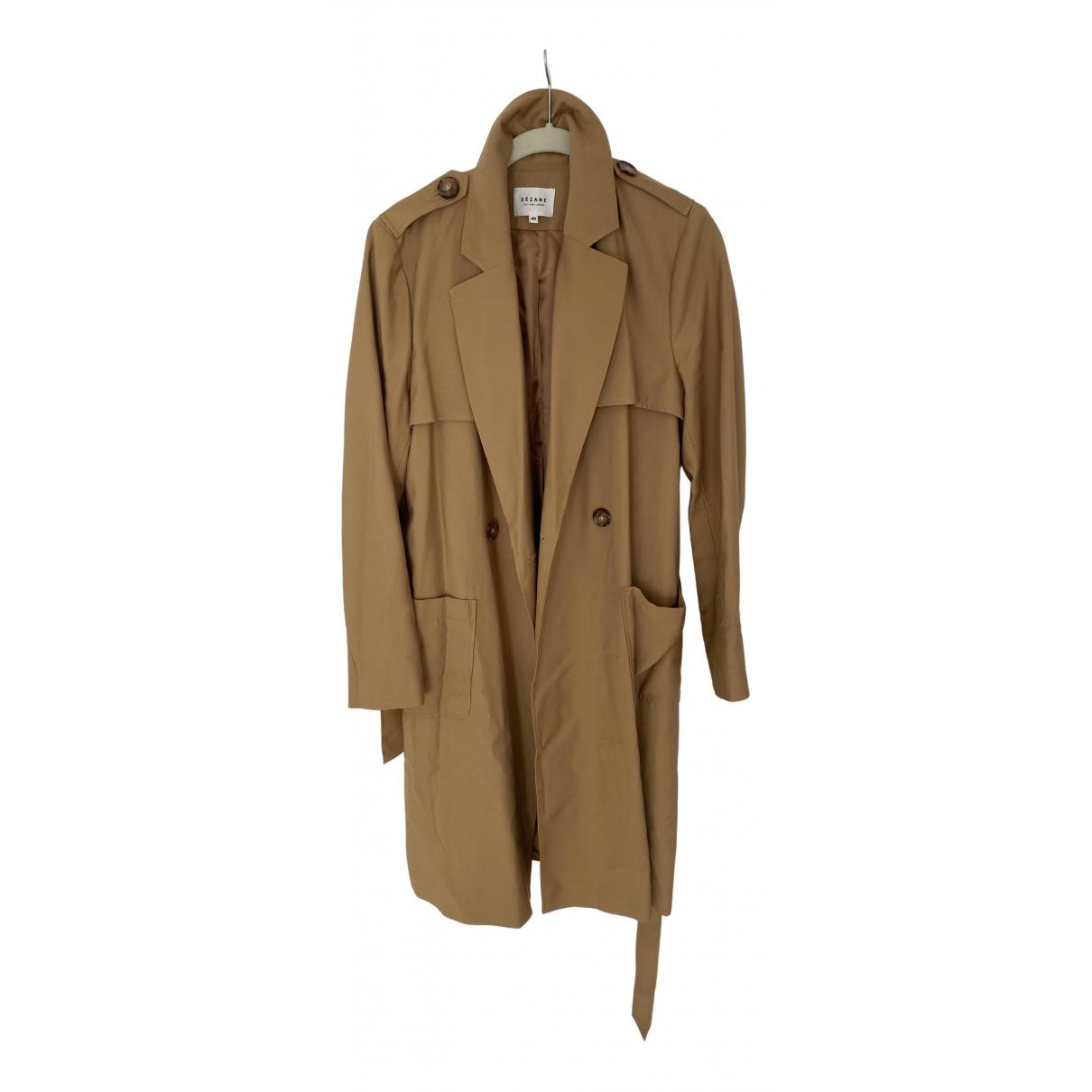 Sezane - Manteau   pour femme en coton - camel