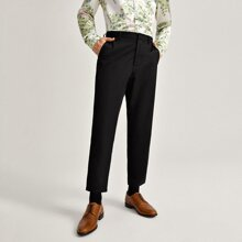 Men Solid Tailored Pants