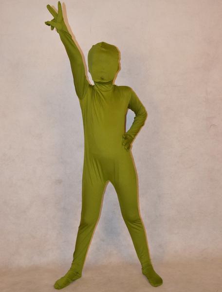 Milanoo Disfraz Halloween Zentai de elastano de marca LYCRA de verde de hierba  Halloween