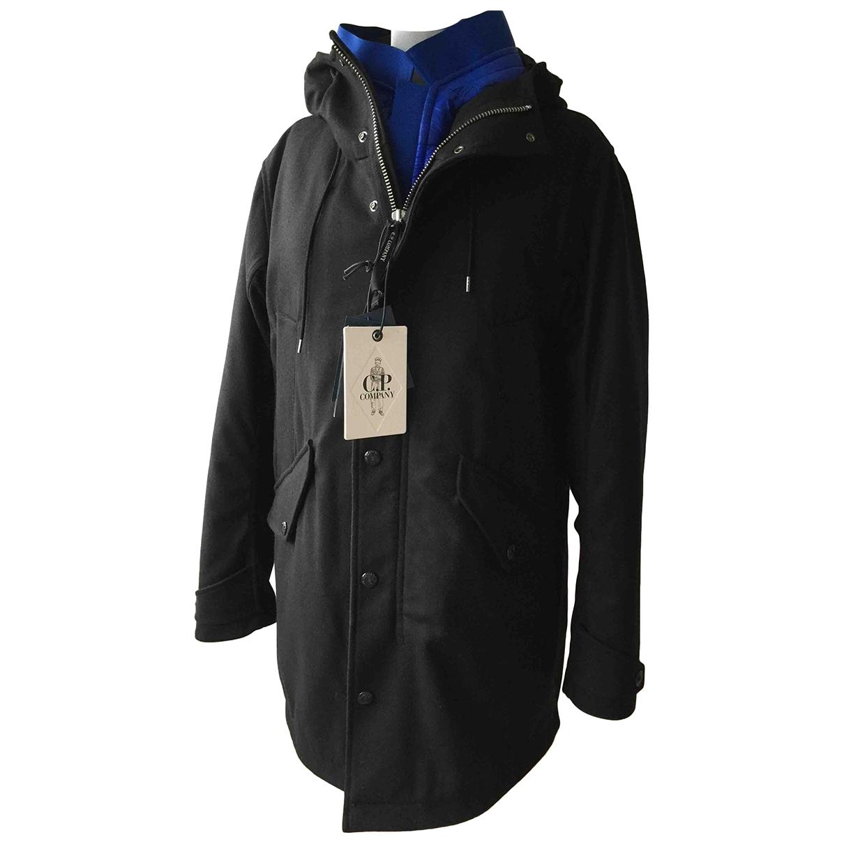 Cp Company - Manteau   pour homme en laine - noir