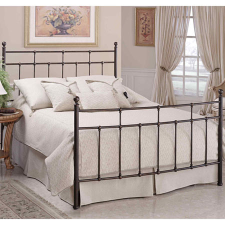 Jacob Metal Bed or Headboard, One Size , Brown