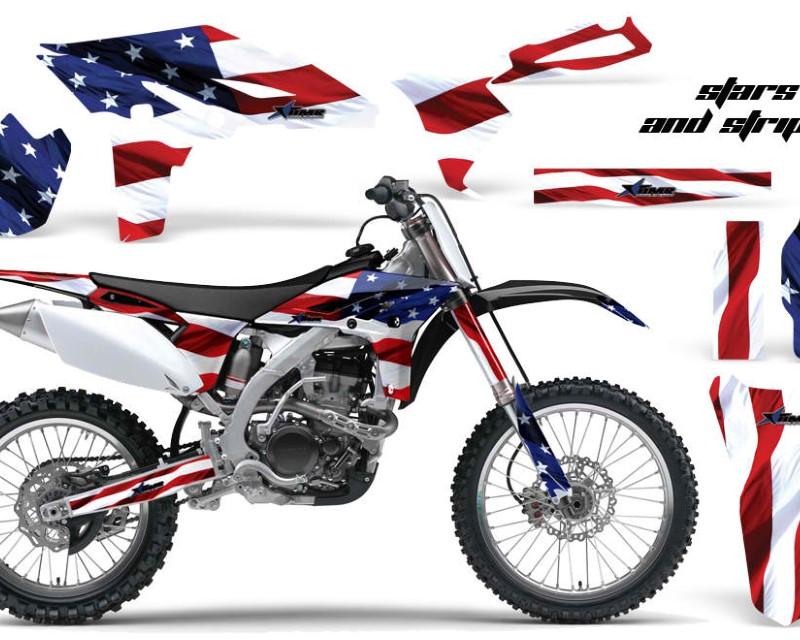 AMR Racing Dirt Bike Graphics Kit Decal Sticker Wrap For Yamaha YZ250F 2010-2013áUSA FLAG