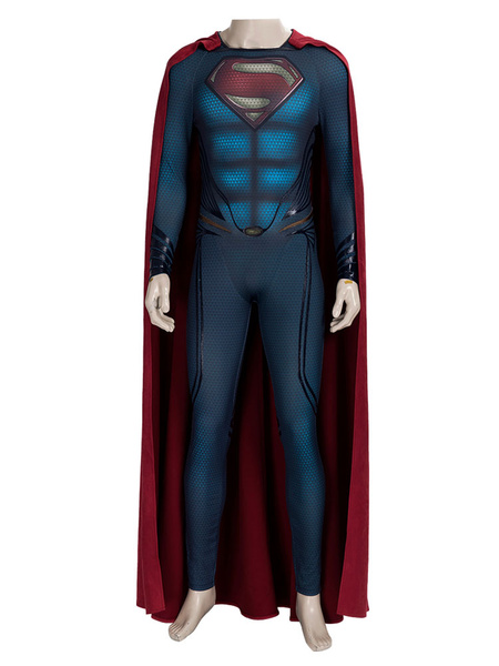 Milanoo SuperMan:Man Of Steel 2 Cosplay Costume Adults Polyester Superman Cosplay Jumpsuit