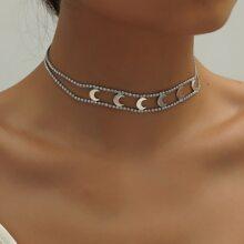Halsband mit Strass & Mond Dekor