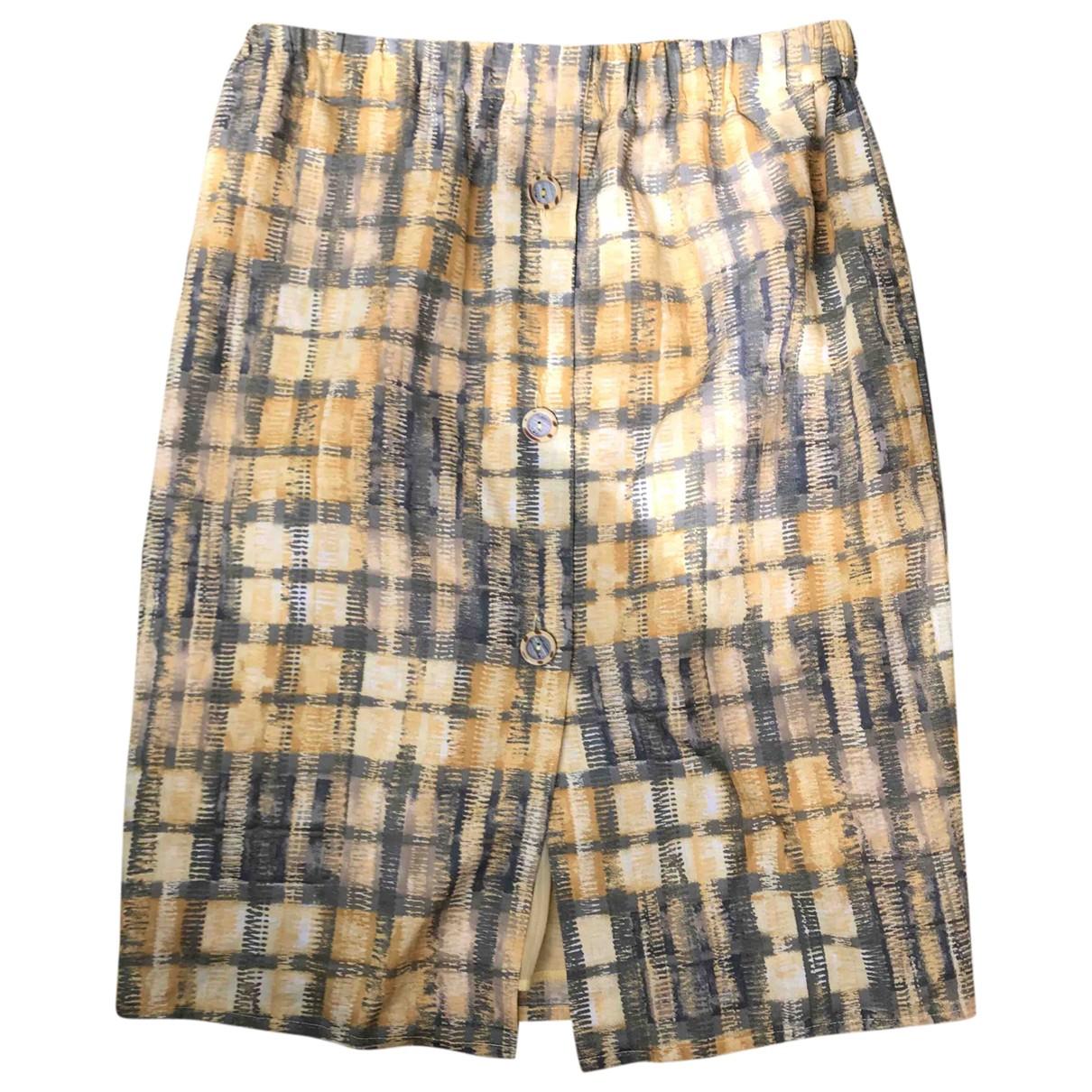 Non Signé / Unsigned \N Multicolour Linen skirt for Women M International