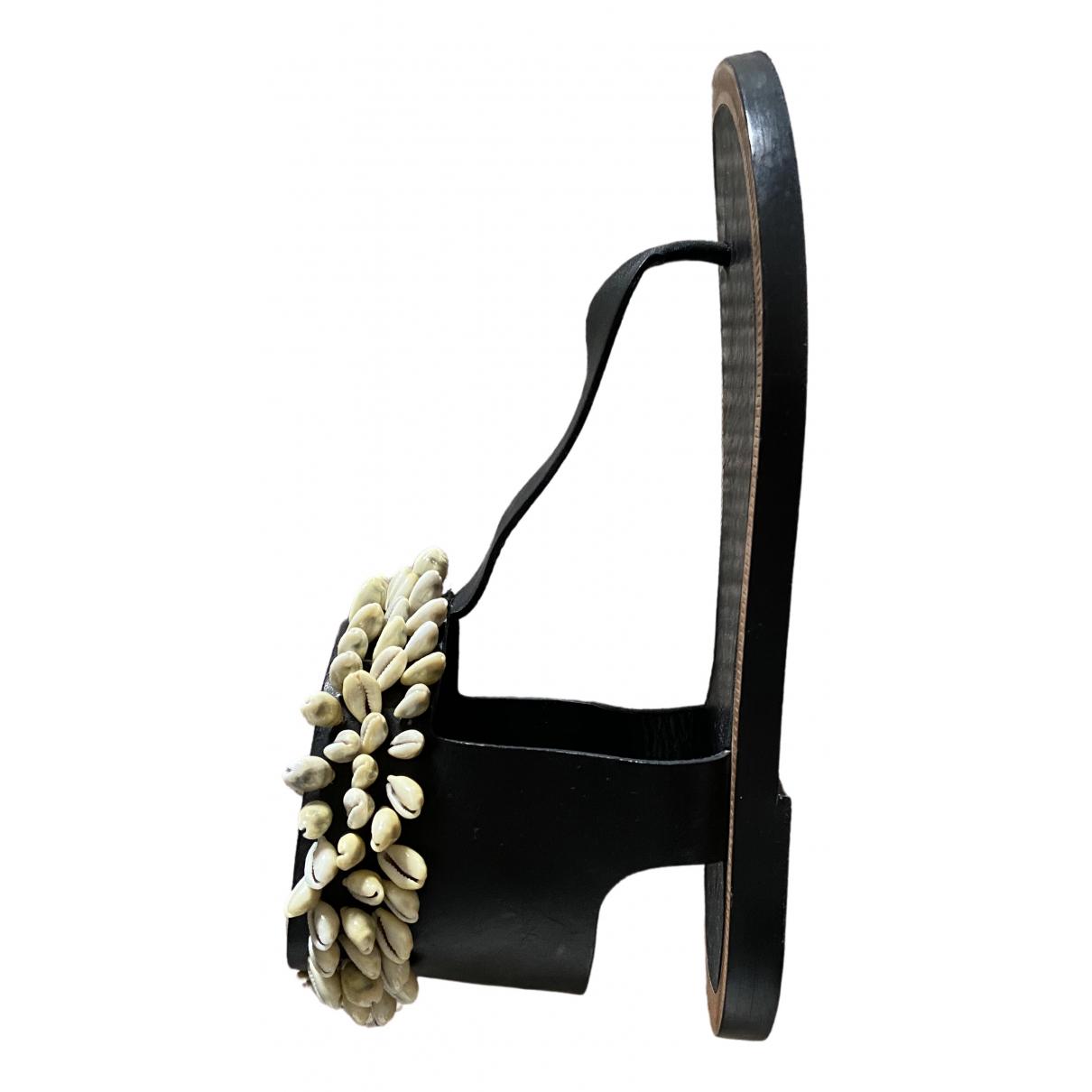 Isabel Marant \N Black Leather Sandals for Women 38 EU