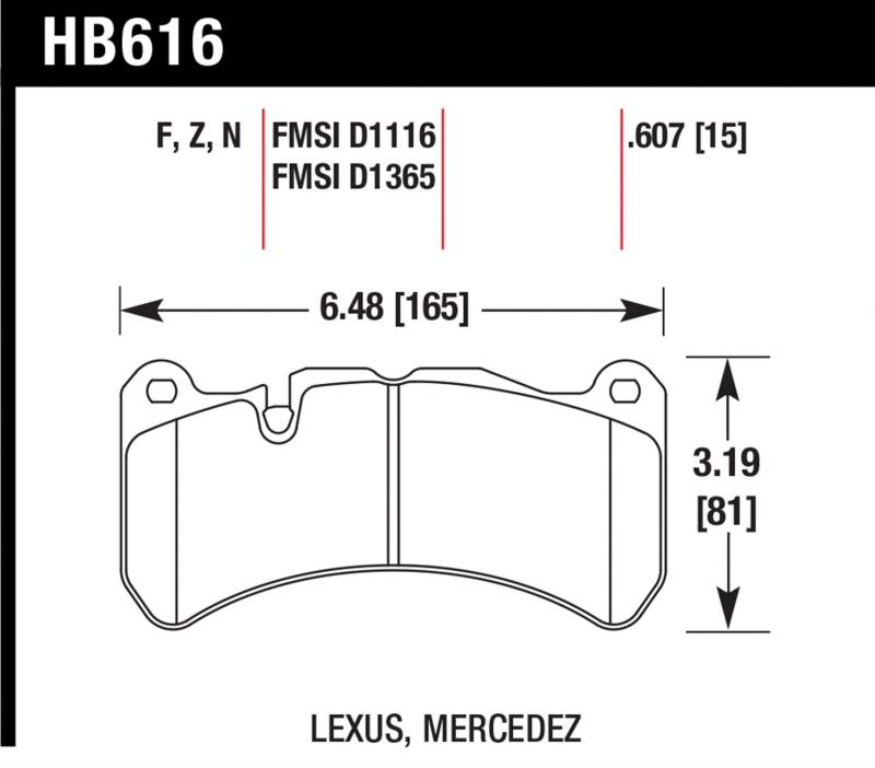 Hawk Performance HB616N.607 Disc Brake Pad Front