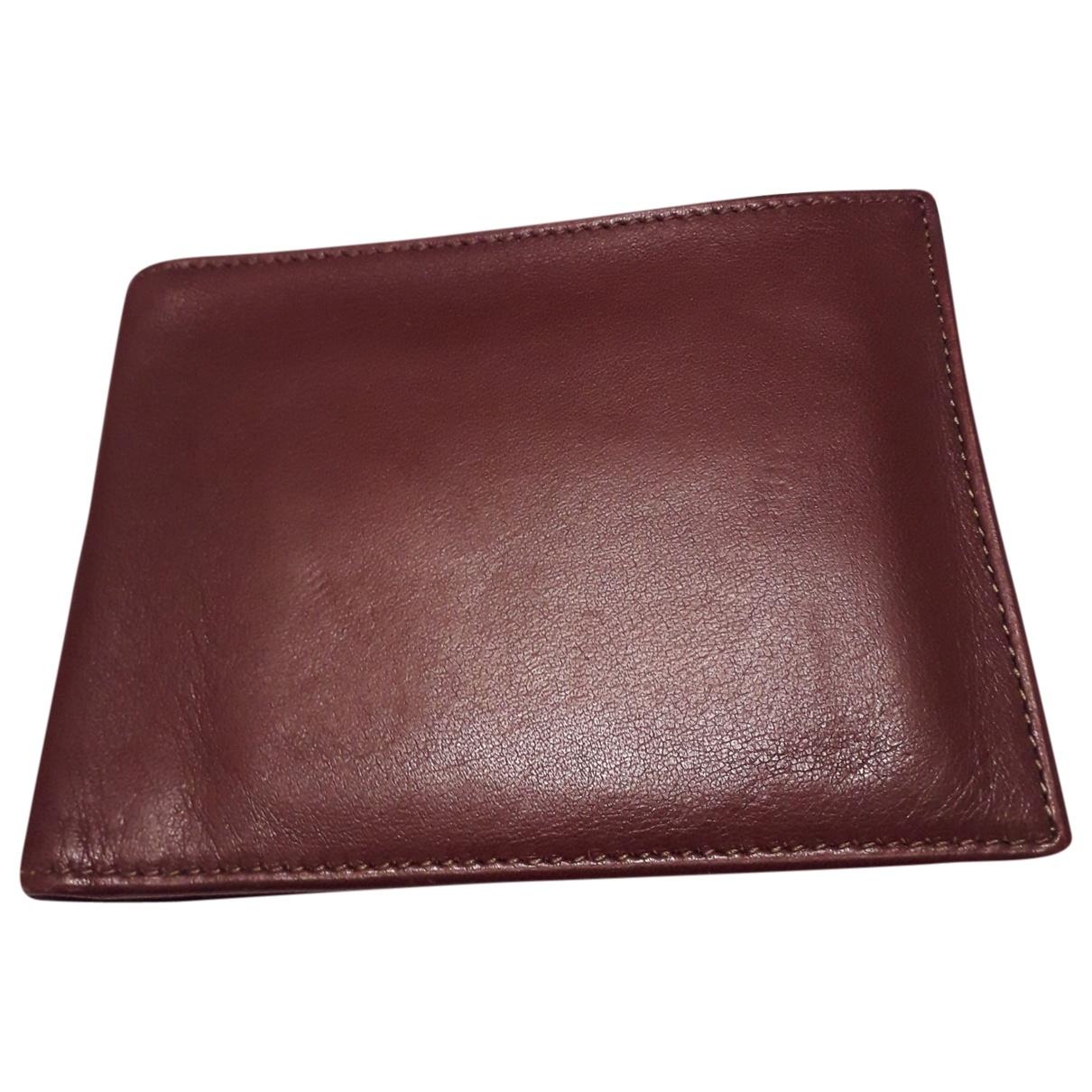 - Petite maroquinerie   pour homme en cuir - marron