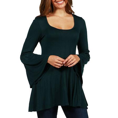 24/7 Comfort Apparel Del Mar Tunic Top, Xx-large , Green