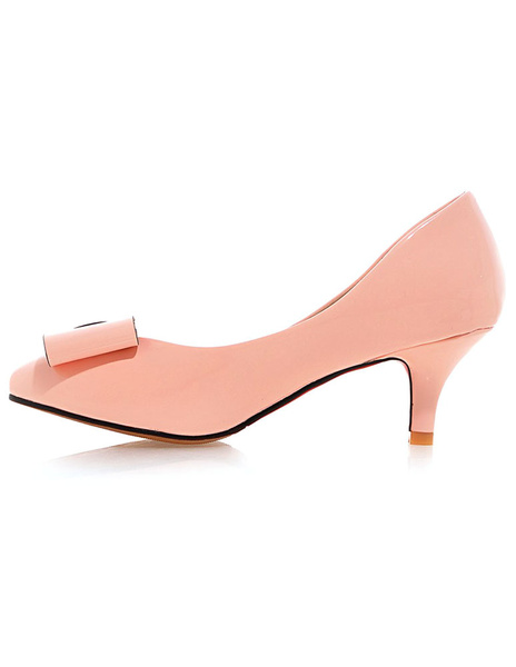 Milanoo Black Pointed Toe PU High Heels For Women